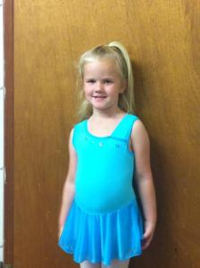 My best friend's daughter going to dance class in teal!