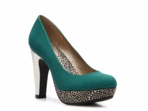 teal heels, teal leopard heels