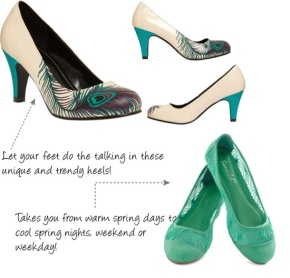 teal shoes, fashion 2013, spring 2013, fashion, modcloth, ovarian cancer