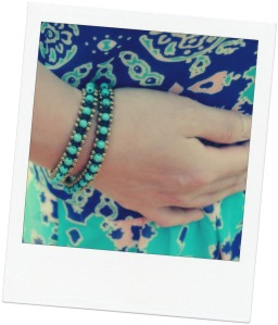 braided teal bracelet, arcadia boutique
