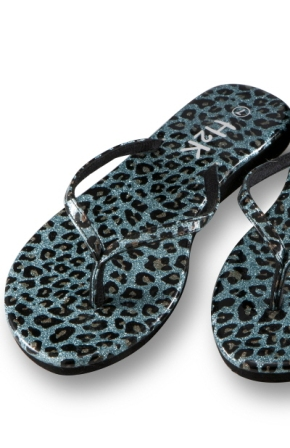 teal and leopard summer sandals, sandals, teal sandals, flip flops